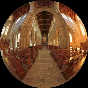 Circular Fisheye projection, with permission from Ben Kreunen