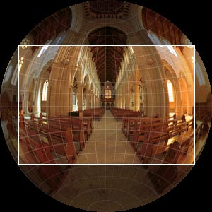 Fullframe Fisheye projection, with permission from Ben Kreunen